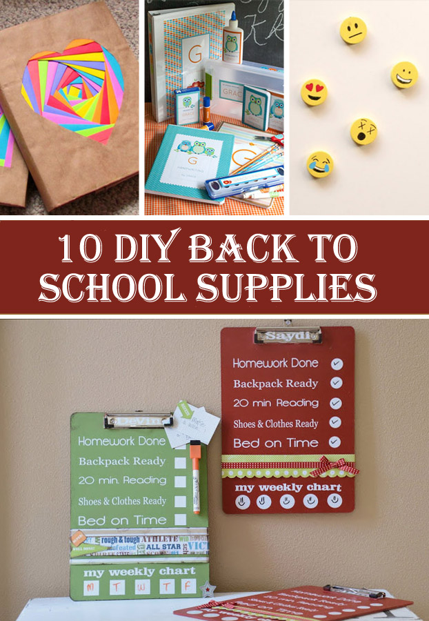 10 DIY Back To School Supplies
