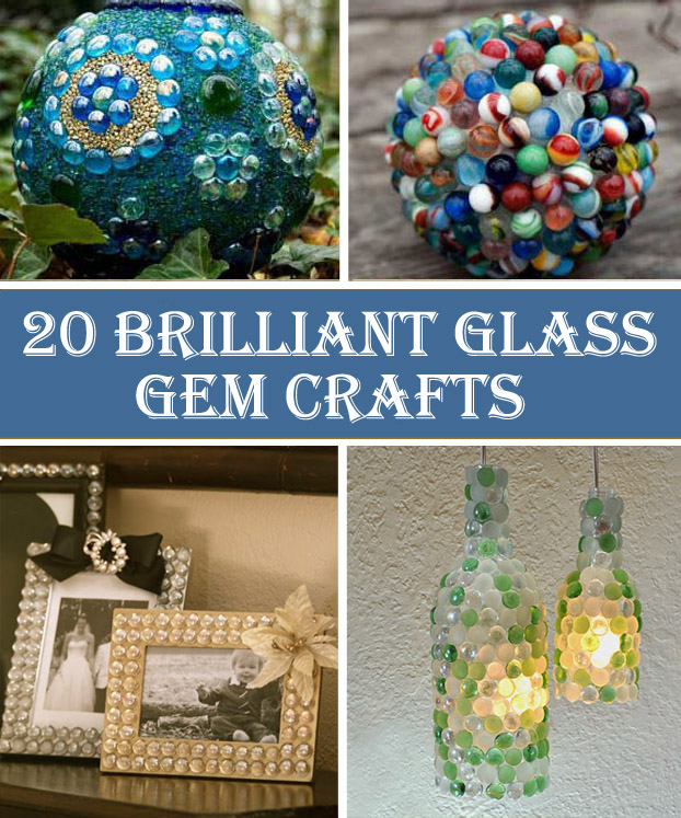 20 Brilliant Glass Gem Crafts Cool Diys