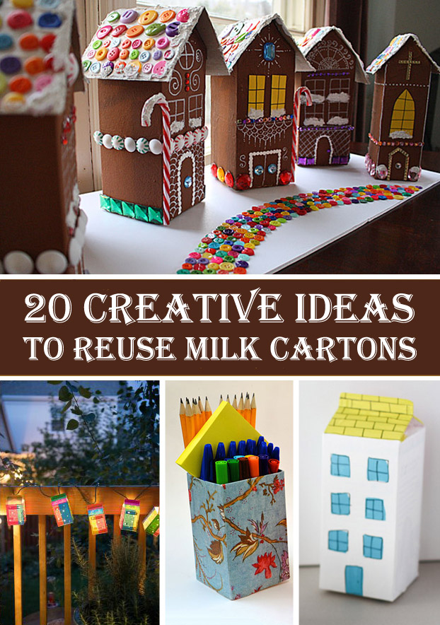 20 Creative Ideas to Reuse Milk Cartons