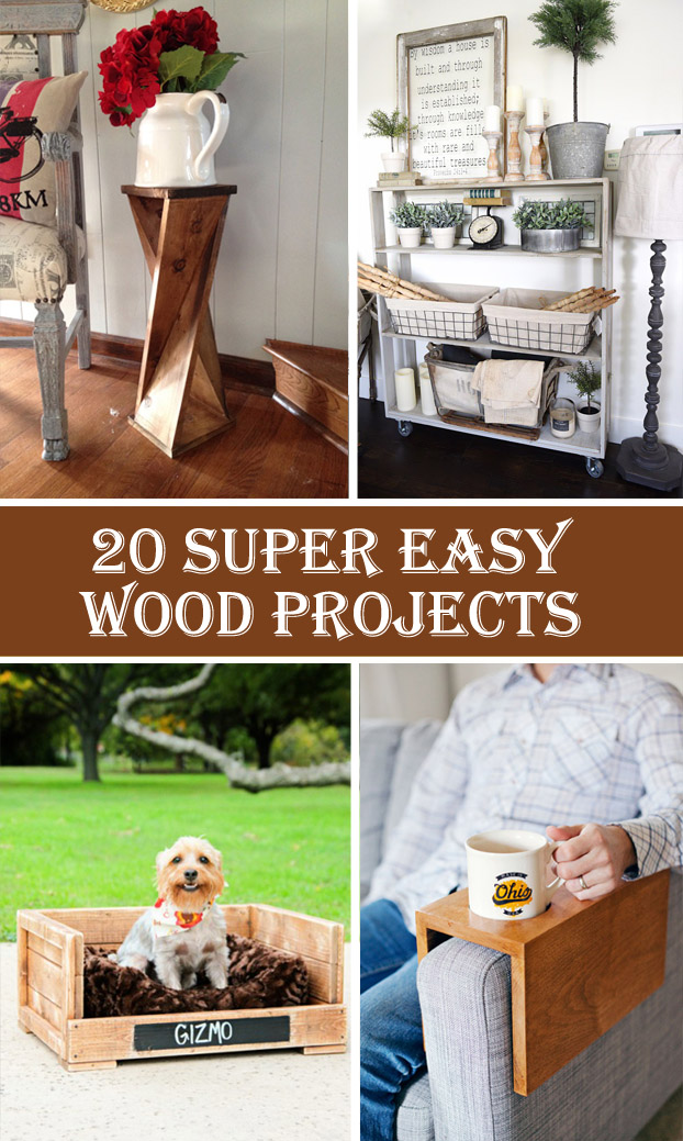 20 Super Easy Wood Projects For Beginners