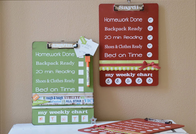DIY Clipboard Charts