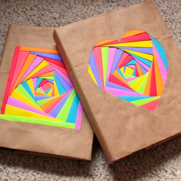DIY Colorful Bookcovers