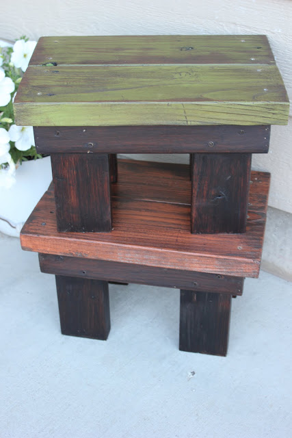 DIY Footstool From Reclaimed Wood