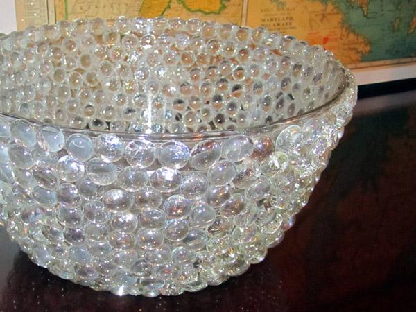 DIY Glass Beads Rock Bowl