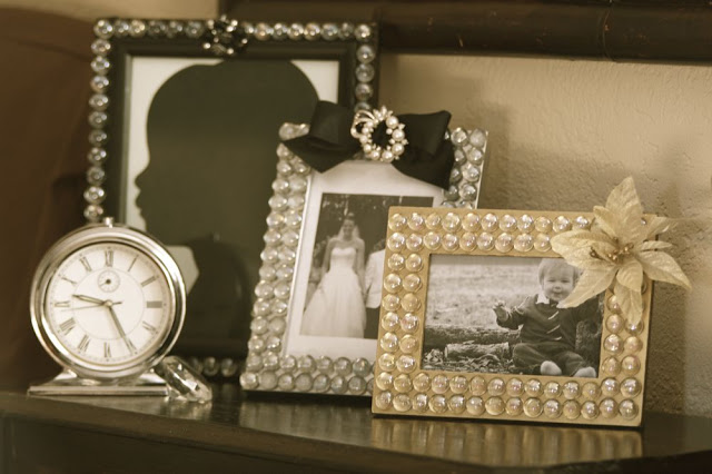 DIY Glass Gem Photo Frames