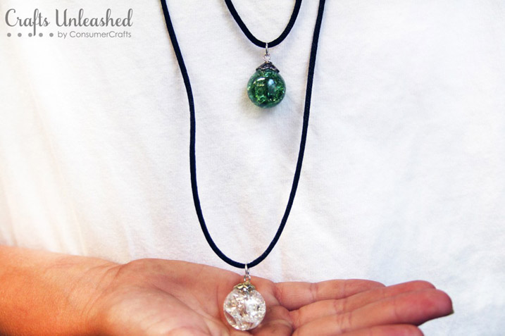 DIY Glass Marble Necklace