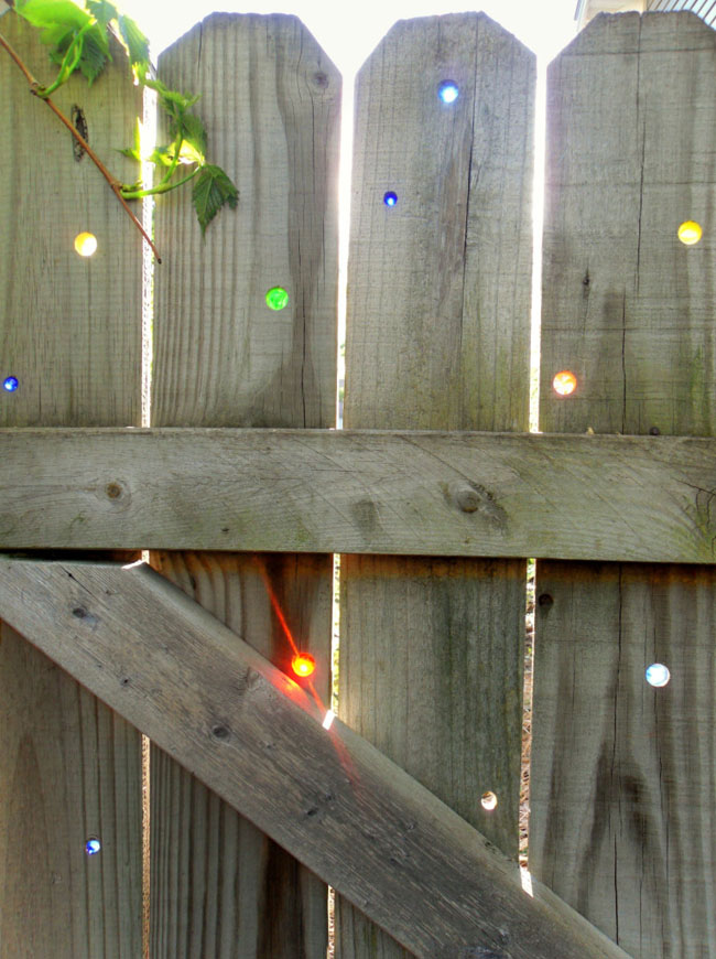 DIY Glass Marbles in The Fence
