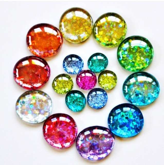 DIY Glitter Gems & Magnets