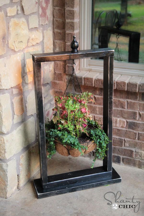DIY Hanging Basket Wood Stand