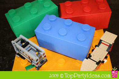 DIY Lego Party Centerpiece
