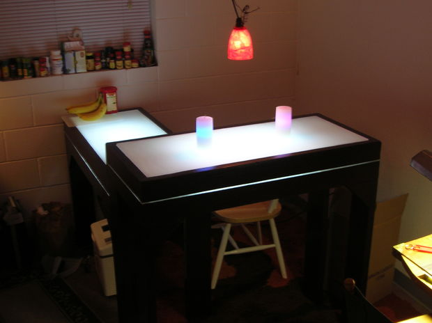 DIY Light-Up Bar Table