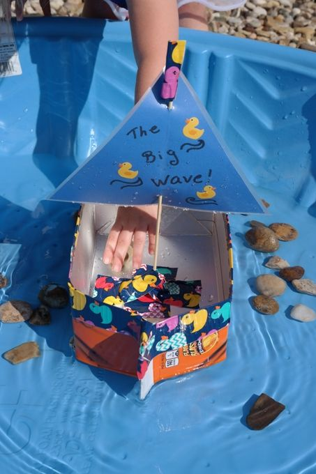 DIY Milk Carton Sailboat