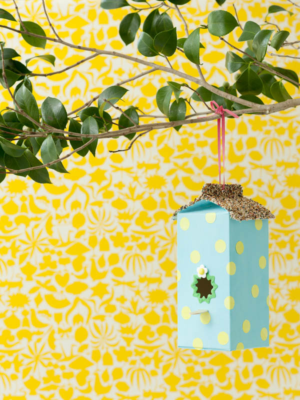 DIY One More Milk Carton Birdhouse Feeder