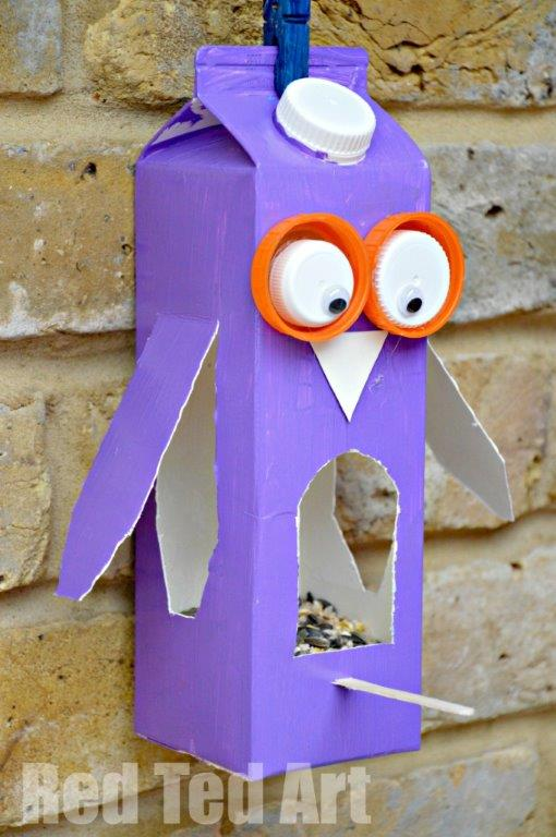 DIY Owl Bird Feeder