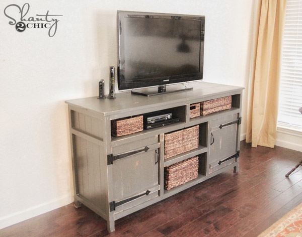 DIY Rustic Media Center by Shanty2Chic