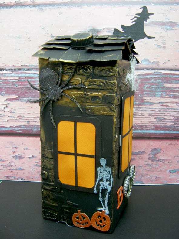 DIY Spooky Halloween House from Milk Carton