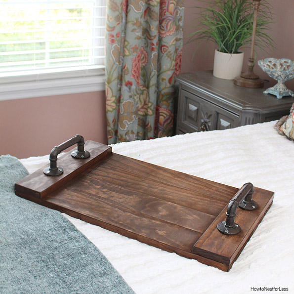 DIY Stained Wood Tray