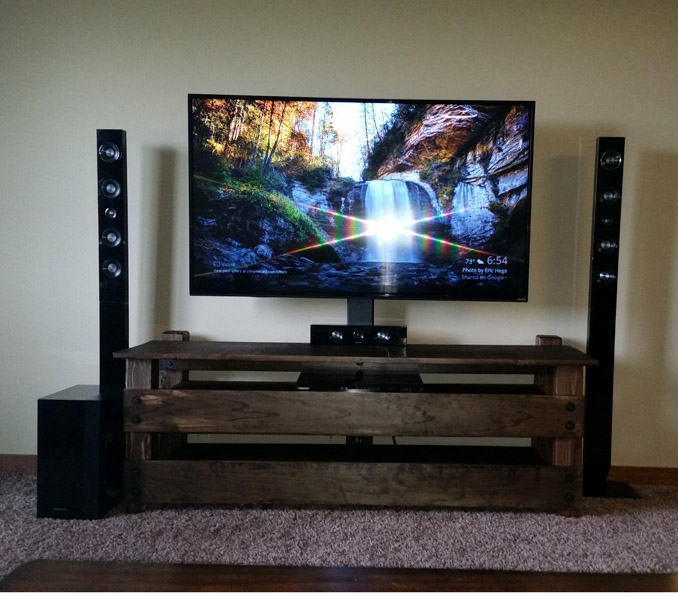 DIY TV Stand by Imgur