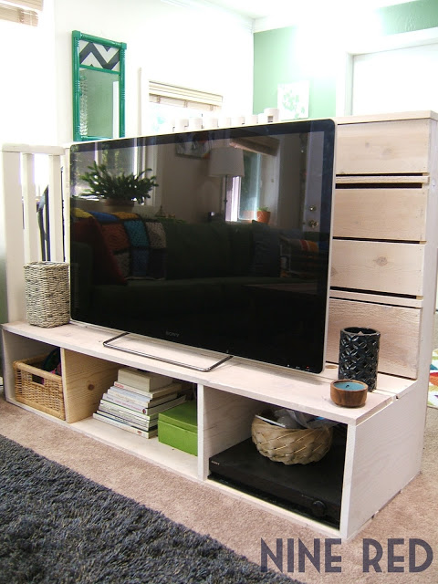 DIY TV Stand by NineRed