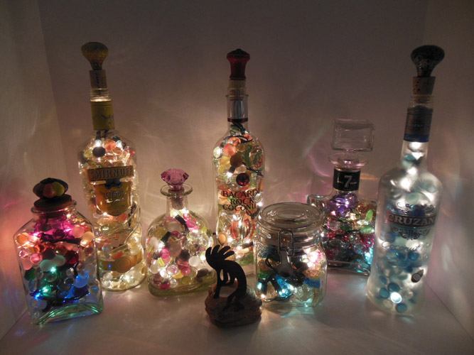 DIY Up Cycled Glass Bottle Lights