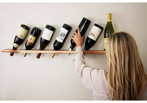 DIY Wood Plank Wine Rack