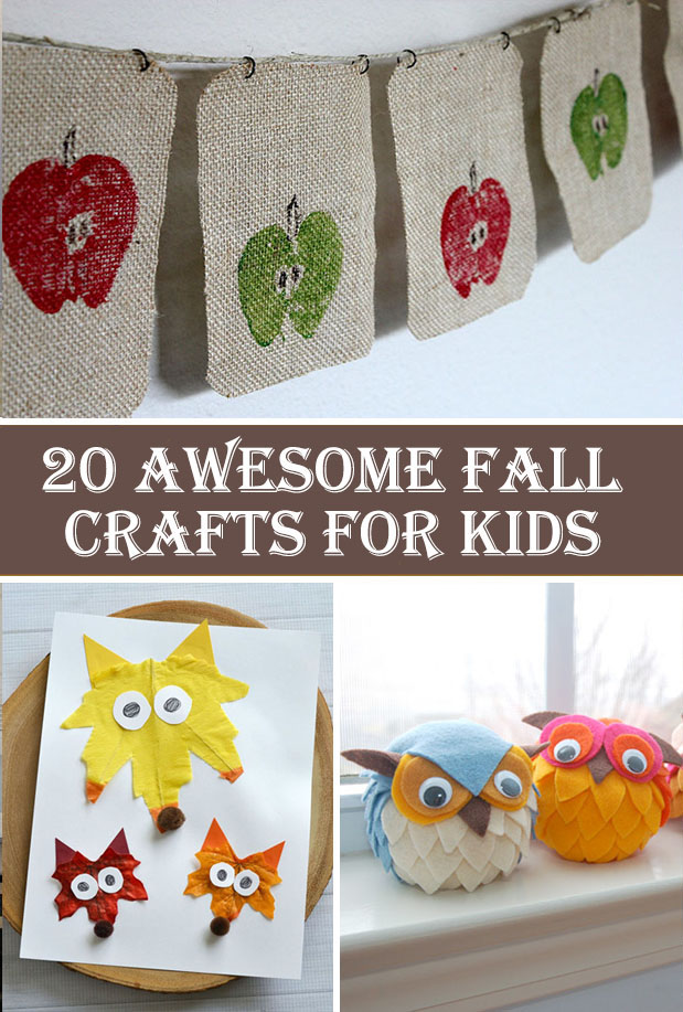 20 Awesome Fall Crafts For Kids