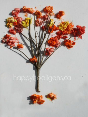 DIY Fall Popcorn Tree Craft