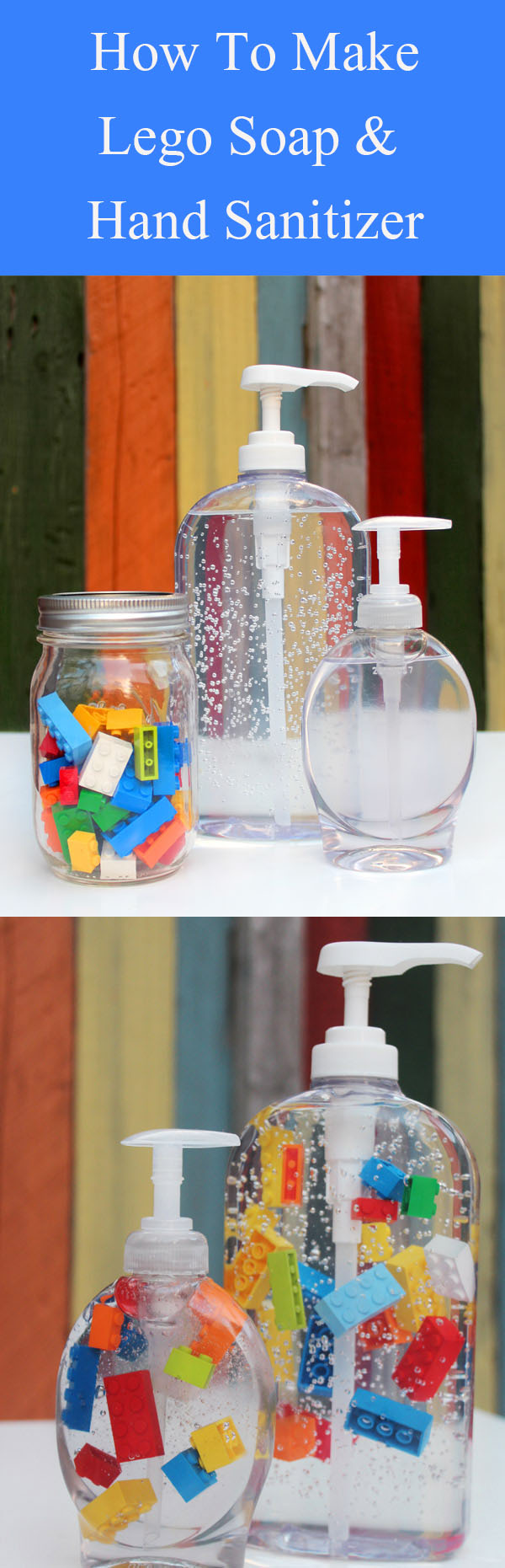 DIY Lego Soap & Hand Sanitizer