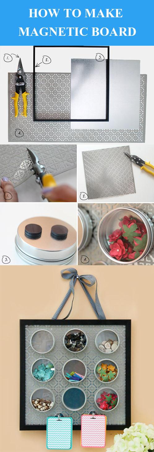 DIY Magnetic Embellishment Board