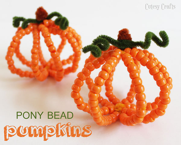 DIY Pony Bead Pumpkins