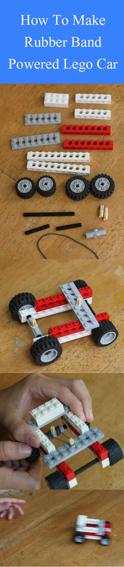 DIY Rubber Band Powered Lego Car